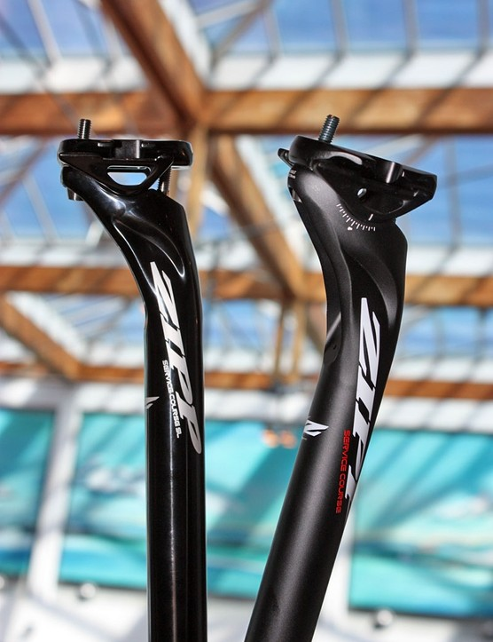 Zipp will offer two levels of Service Course seatposts for 2011, both with 20mm offsets and available in either 27.2 or 31.6mm diameters