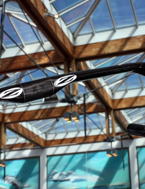 The aero tops of the Zipp Vuka Sprint drop bar are UCI-compliant