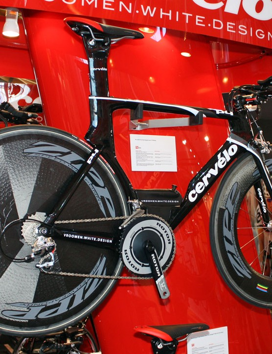 The striking Cervélo P4 Evo will come with the aero-enhancing integrated water bottle