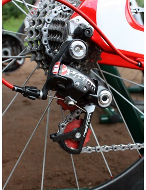 In fairness to Vision, the Metron rear derailleur is still a work in progress but the official release date isn't far off