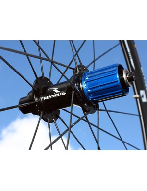 DT Swiss rear hubs on the upper-end Reynolds wheels now sport a striking blue anodised finish