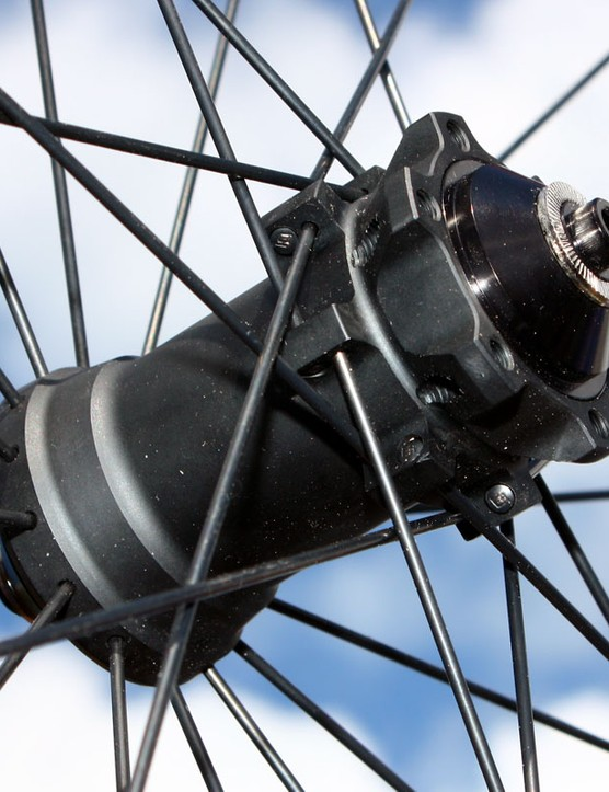 Reynolds' new AM mountain bike wheel uses an Asian-sourced front hub with interchangeable axle fitments