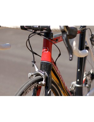 Leo's head tube and fork taper from 1-1/8 to 1-1/2in