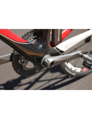 Our test bike came with a threaded adaptor pressed into the BB30 shell