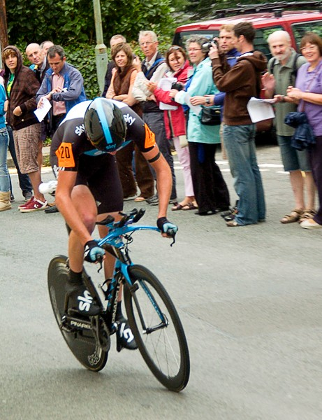 Chris Froome (Team Sky) finished second behind Wiggins