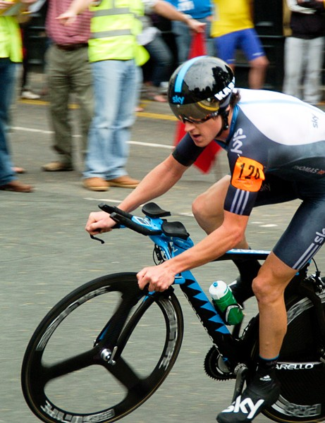 Geraint Thomas rounded out the Team Sky dominated men's podium with third place