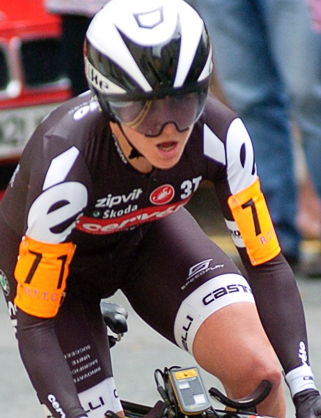 Emma Pooley was once again the best female time trialist in the country