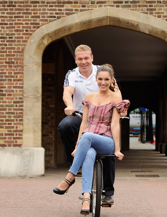 Chris Hoy and Kelly Brook