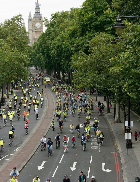 Thousands of cyclists enjoyed traffic free riding in London