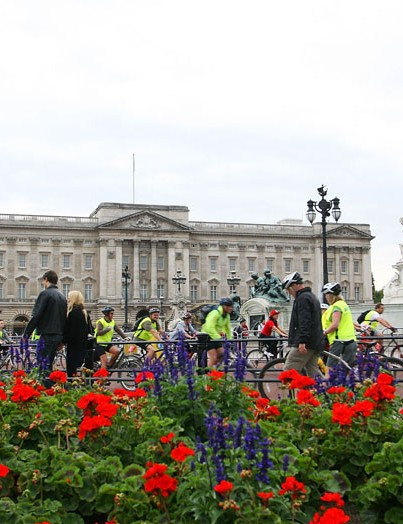 Buckingham Palace provided the backdrop for the start