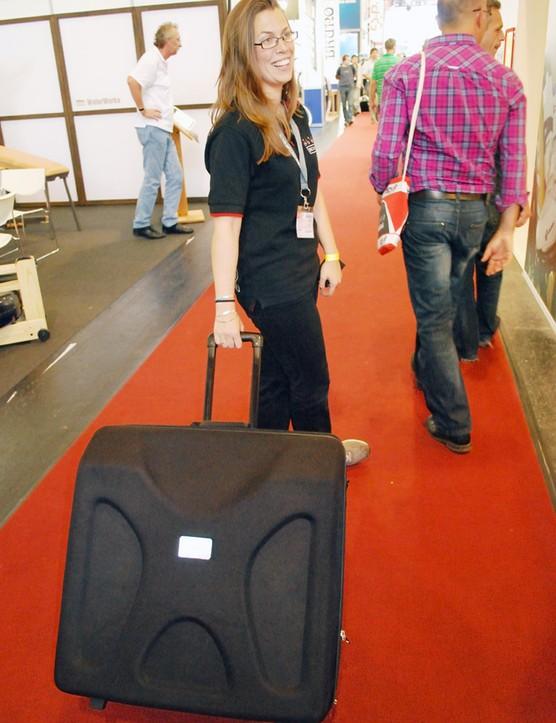 Brompton Pod flight case on the roll
