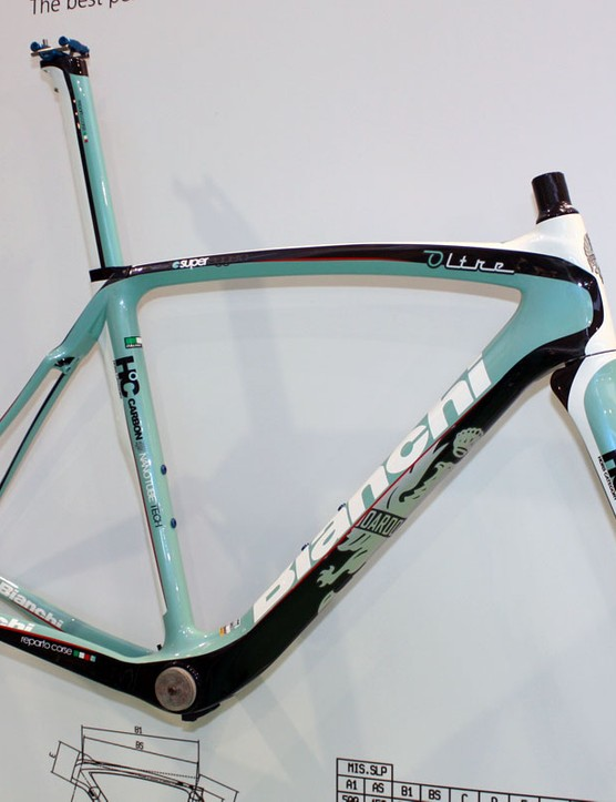 The Oltre is Bianchi's new top-end road frame