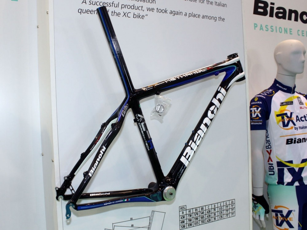 Bianchi's top-end mountain bike is the Methanol carbon hardtail