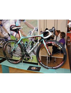 Bianchi are currently the official bike sponsors for the Ceramica Flaminia team
