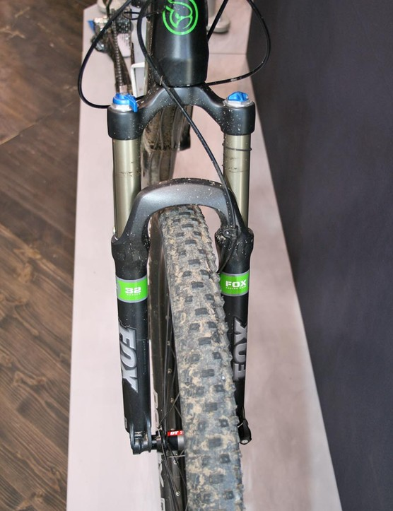 The E-Ndure Evo hardtail uses a standard Fox 32 fork