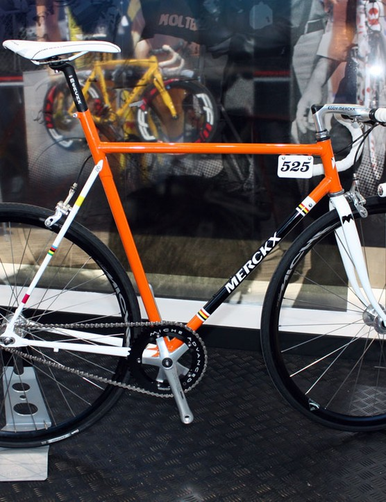 Is this some piece of nostalgia? Nope – it's a sample of Eddy Merckx's new 'urban bike' concept, built with a comfortable lugged steel frame and with a versatile geometry that can accommodate a variety of different builds