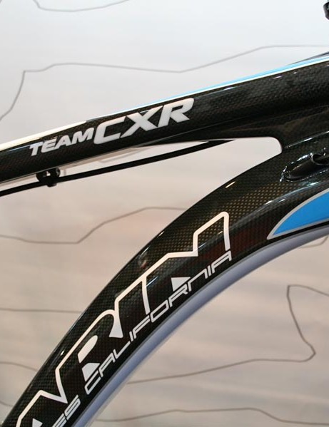 Team CXR race hardtail uses a new a new CXR-T3 carbon construction