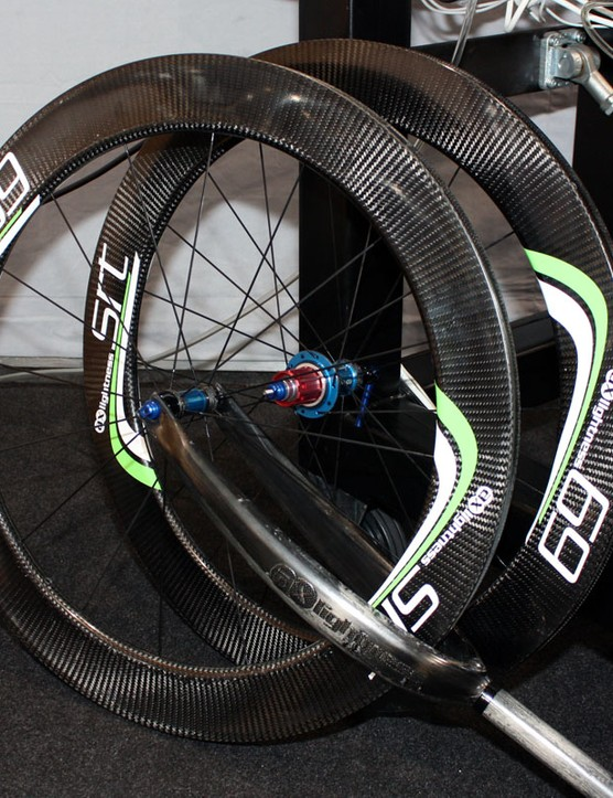AX-Lightness showed off their 69mm-deep carbon tubulars at this year's Eurobike show