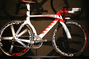 Pinarello's new Graal CDE533 with Campagnolo Bora Ultra wheelset and Super Record groupset  – it's also compatible with Shimano's Dura-Ace Di2 electronic groupset