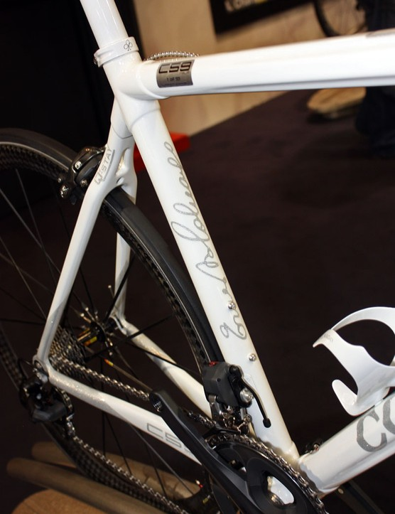 Ernesto Colnago's signature is on every seat tube of the limited edition C59 Italia