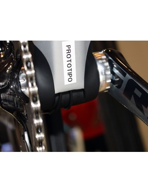 The derailleur cables exit the frame down by the bottom bracket on the new Colnago M10