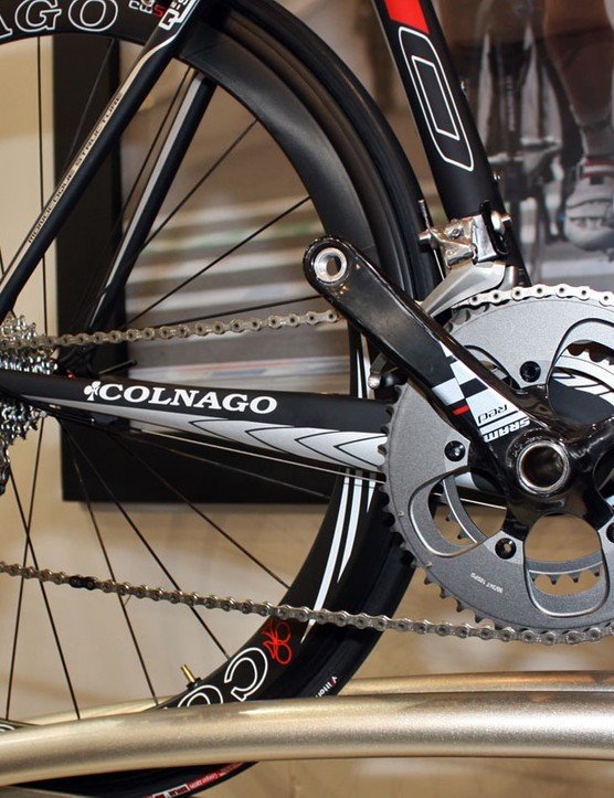 Chainstays are big and tall on the new Colnago M10