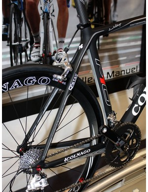 The rear end of the new M10 features Colnago's lates Q-Stay design