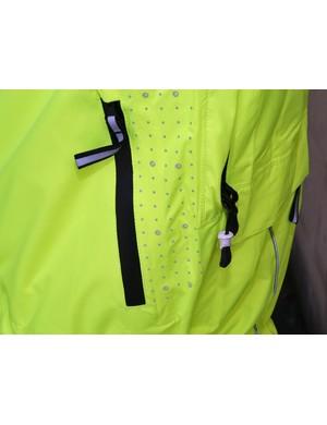 Reflective polka dots and handy pockets on the DHB Signal jacket