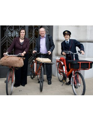 Meg Hillier MP, Lord Berkeley and Adam Coffman of CTC