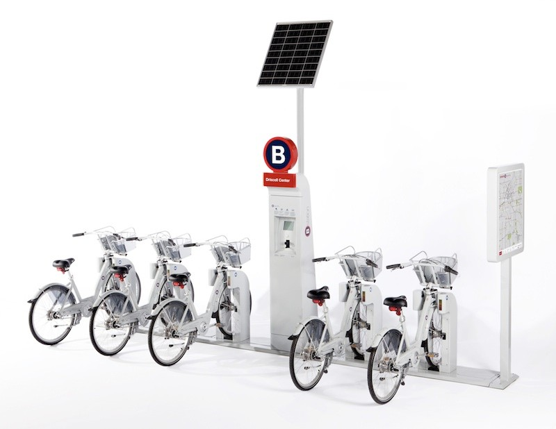 B-Cycle bikes and kiosk