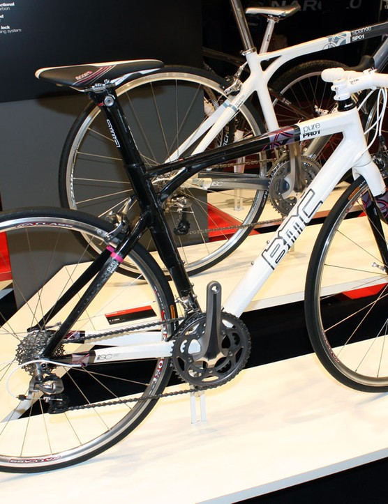 BMC's new Pure PR01 is pegged as a women's-specific model but the geometry is shared with the Roadracer SL01