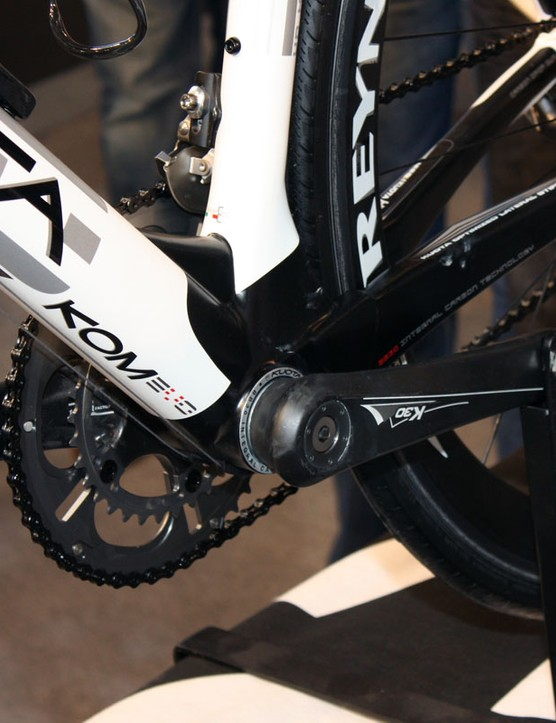 Kuota continue to use an oversized BB30 bottom bracket on their flagship bikes