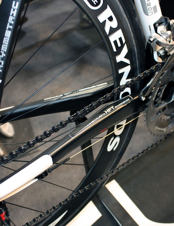 Chainstays on the new KOM Evo mimic those of the previous generation KOM