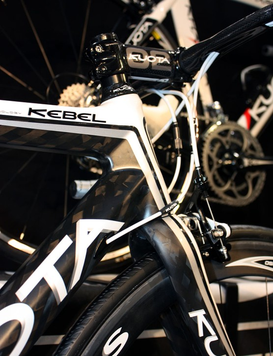 Kuota's Kebel sticks with the 1-1/8 to 1-1/4in front end – for now