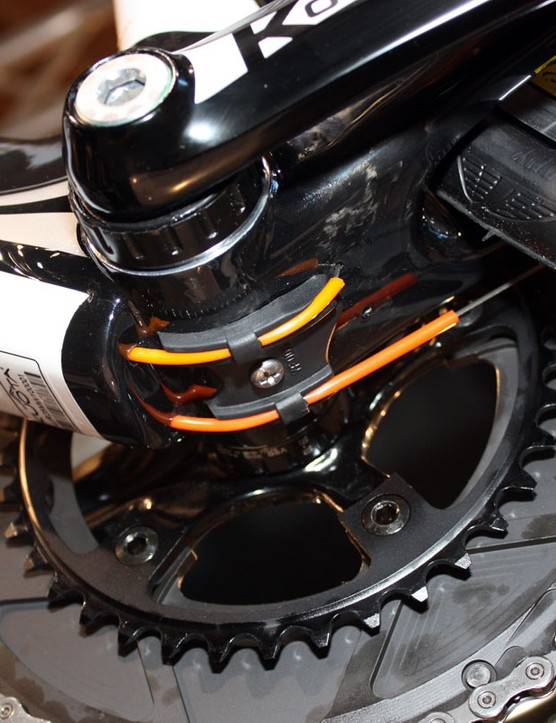 The internally routed cables on the K-Factor exit the frame at the bottom bracket