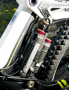 The Equalizer 3 shock has been flipped for 2011 and now has a mudguard to keep the crap out