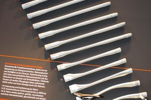 Each hydroformed top tube on the new Strive goes through 14 steps from start to finish