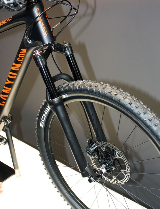 A lightweight DT Swiss fork is a natural choice for Canyon's innovative hardtail project
