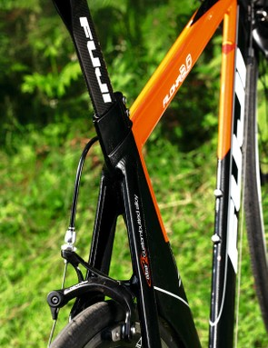 At first glance this fully aero, tri-angled bike looks more like £1,799 worth of bike than its actual £799 price tag