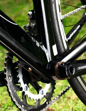The triple-butted tubes take out a surprising amount of road sting for an alloy bike