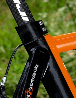 Steep seat angle and soft-nosed saddle mean it rides like a true tri bike, not a lookalike