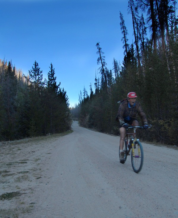 Alexi Grewal on the Crooked Roubaix's first descent, where he fought a seizing headset