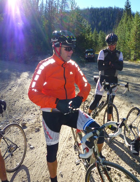 Ron Kiefel at the top of the first 2,000-foot climb, still cold, after starting in 20-degree temperatures