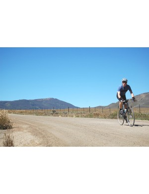 Mike Hoffman, a service tech at Wheat Ridge Cyclery, was the only rider to take on the Crooked Roubaix on a fixed-gear