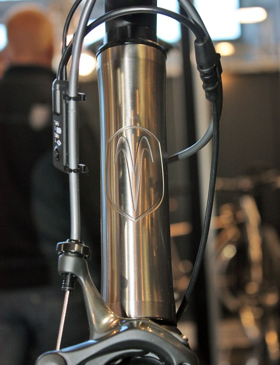 Many Van Nicholas frames now sport these clean etched-in head tube logos