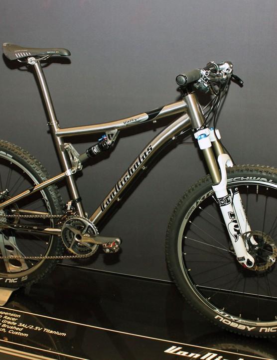 Van Nicholas will soon add a full-suspension bike to their impressive array of titanium machines