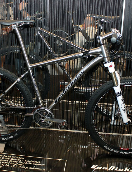 Van Nicholas's top-end Tuareg titanium hardtail gets a tapered head tube and a new seatstay yoke for 2011