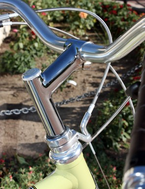 The brazed chromoly stem is a beautiful finishing touch
