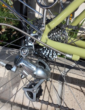 Shimano's Tiagra rear derailleur is nothing to write home about but as with all of the running gear on the Ticino 18D, it does the job without any fuss and is perfectly suited for the task at hand