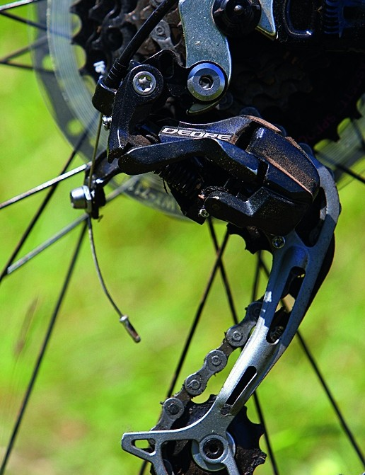 The Deore rear mech is a nice touch on a bike at this price